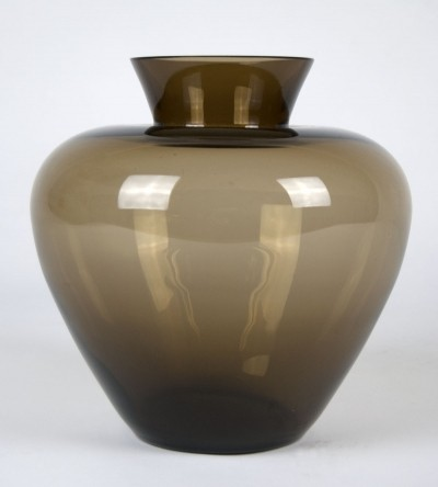 Large Wagenfeld Glass Vase for WMF, 1930s