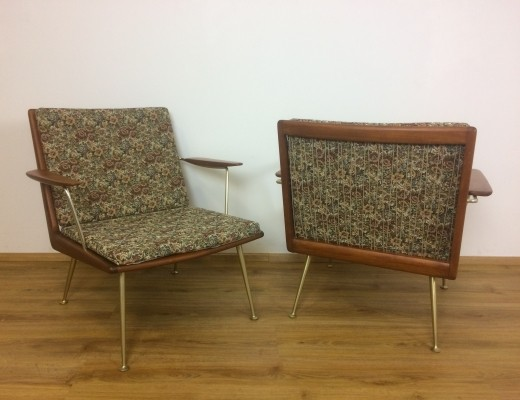 Pair of Boomerang lounge chairs by Hans Mitzlaff & Albrecht Lange for Soloform Eugen Schmidt, 1950s