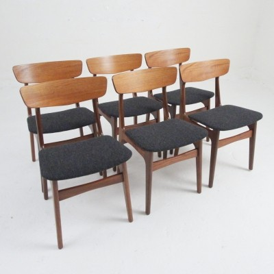 Set of 6 vintage dinner chairs, 1950s