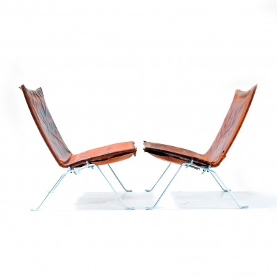 Rare first production 'PK22' chairs by Poul Kjærholm, 1950s