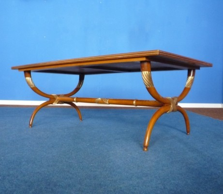 Mid-Century Cherry Wood Coffee Table, 1950s
