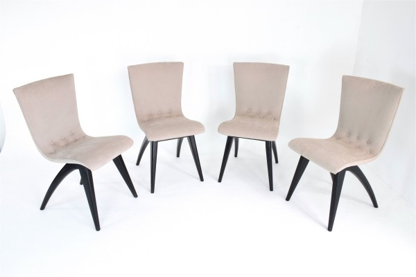 Set of 4 Swing dining chairs by CJ van Os, 1950s