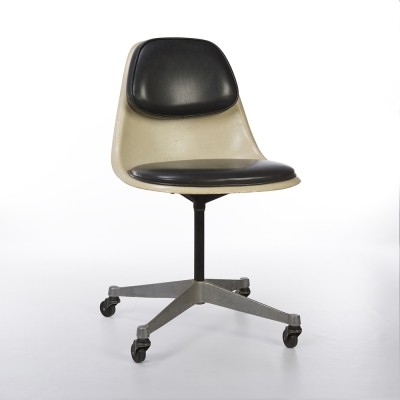 Original Herman Miller Cushioned Parchment Eames PSCC Contract Side Chair