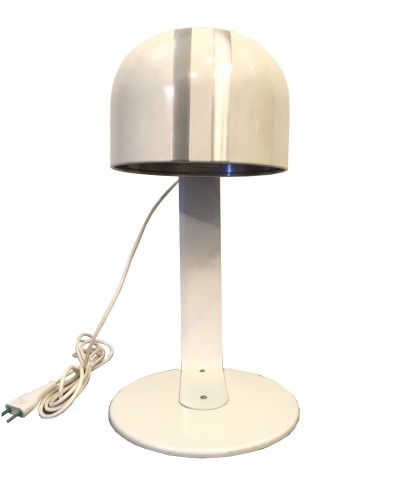 Swedish 'Mpd.1457' table lamp in white lacquered metal by Kosta Lamp, 1970s