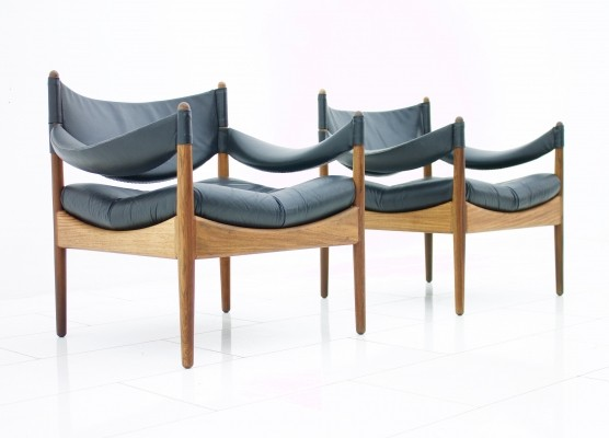 2 x Modus lounge chair by Kristian Vedel for Søren Willadsen, 1960s