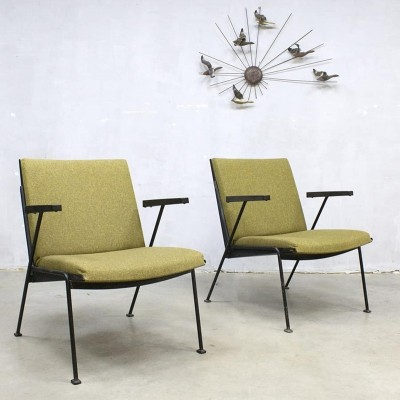 2 x Oase arm chair by Wim Rietveld for Ahrend de Cirkel, 1950s