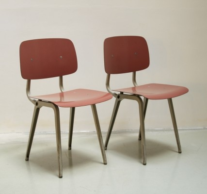 2 x Revolt dining chair by Friso Kramer for Ahrend de Cirkel, 1960s