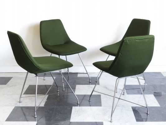 Set of 4 'Athena' chairs by Augusto Bozzi for Saporiti, 1954