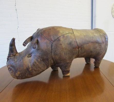 Dimitri Omersa Big Leather Rhino, 1960s