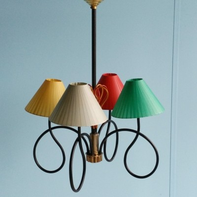 French hanging lamp, 1950s