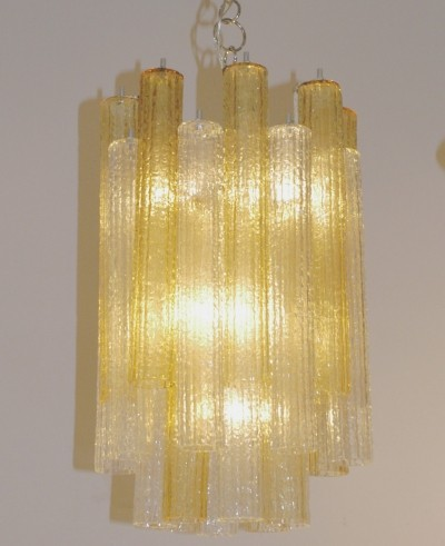 Murano Glass Chandelier by Toni Zuccheri for Venini