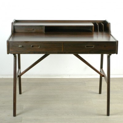 Scandinavian Modern Rosewood Writing Desk by Arne Wahl Iversen