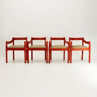Set of 4 Carimate dinner chairs by Vico Magistretti for Cassina, 1960s