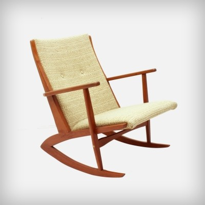 Model 97 rocking chair by Søren Georg Jensen for Tønder Møbelværk, 1950s