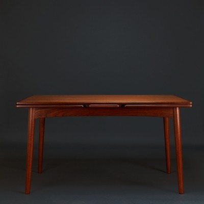 Teak dining table by Ejner Larsen & Axel Bender Madsen for Willy Beck,1960s
