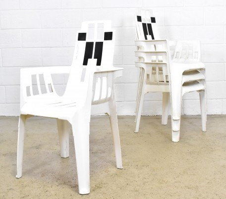 4 Boston Garden Chairs by Pierre Paulin for Herny Massonnet / STAMP, 1988