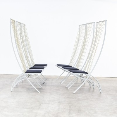 Set of 4 Rare model high back chairs