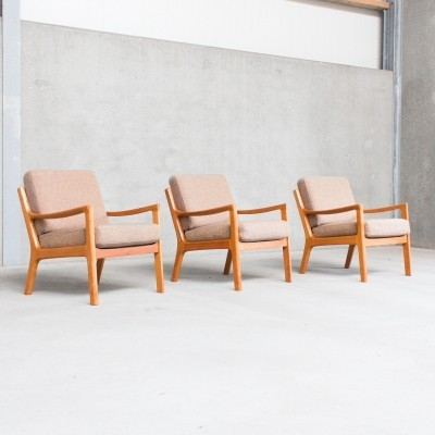 3 x Senator / Model 166 lounge chair by Ole Wanscher for Cado, 1960s