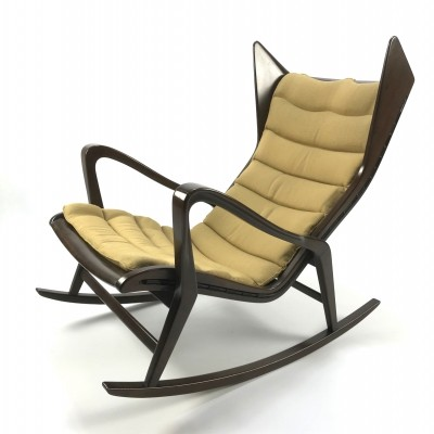 Rocking chair model 572 produced by Cassina, Italy