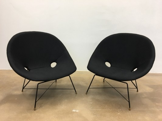Pair of Cosmos lounge chairs by Augusto Bozzi for Saporiti, 1950s
