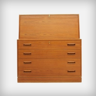 Danish Teak Secretary by Arne Wahl Iversen for Vinde Møbelfabrik, 1960s