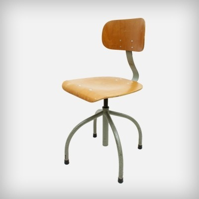 2 x German Industrial Swivel Office Chair from Anatomic, 1950s