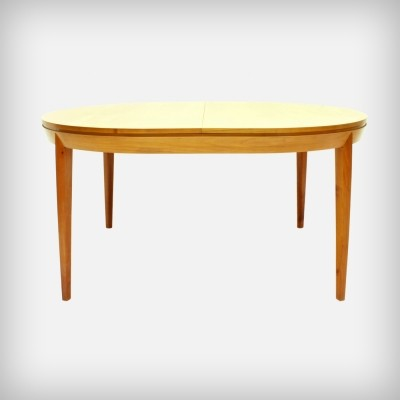 Extendible Cherry Wood Dining Table by A. A. Patijn for Zijlstra Joure, 1950s
