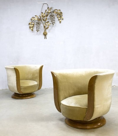 Pair of Depose lounge chairs by Hotel Le Malande, 1930s