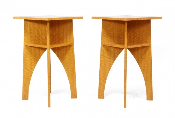 Pair of Satin Wood Side Tables