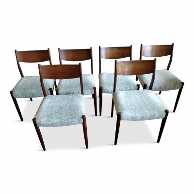 Set of 6 D dinner chairs by Fristho Design Team for Fristho, 1960s
