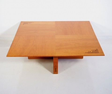 Jaume Tresserra Marquetry Walnut Coffee Table, 1987