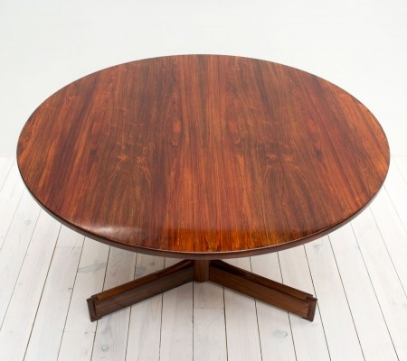 1960s Rosewood Pedestal Dining Table by Robert Heritage