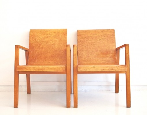 Pair of Alvar Aalto 403 Hallway Chairs by Finmar Ltd, 1940s