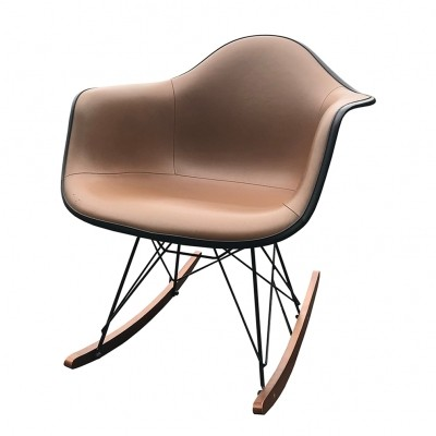 Brown Vinyl RAR Rocking chair by Charles & Ray Eames, 1950s