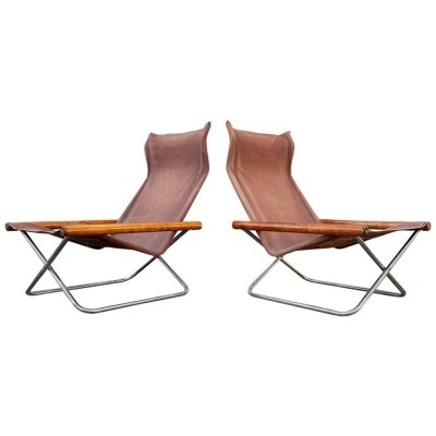 Pair of NY lounge chairs by Takeshi Nii, 1950s