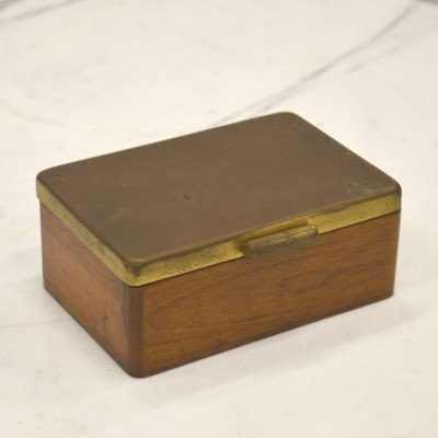 Rare Marianne Brandt Walnut Box for Ruppel Werke, 1930s