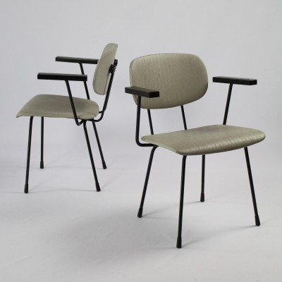 Pair of NO. 216 dining chairs by Wim Rietveld for Gispen, 1950s