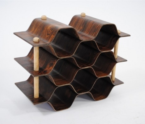 Wine rack by Torsten Johansson for AB Formträ, 1960s