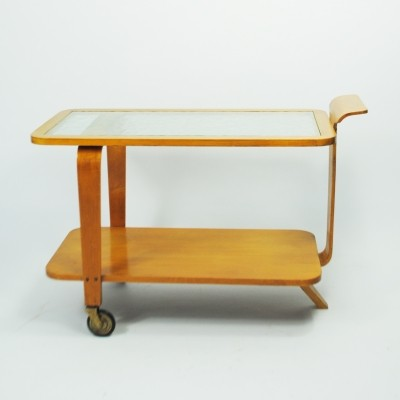 Serving trolley by Wilhelm Lutjens for C. den Boer, 1950s