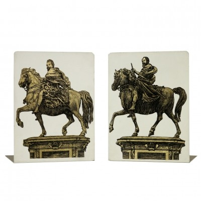 Pair of Bookends by Piero Fornasetti, 1960s