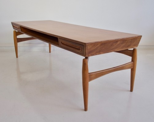 Teak, Mahogany & Walnut Coffee Table by Johannes Andersen for Trensum, 1960s