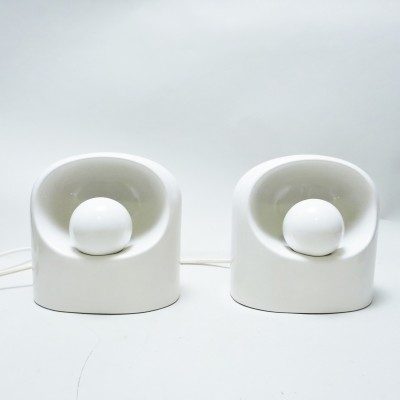 Pair of Ceramic lamps by Marcello Cuneo for Gabbianelli, 1970s