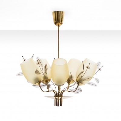 Paavo Tynell Five-Arm Chandelier for Taito Oy - Model 9029/5, Finland ca 1950
