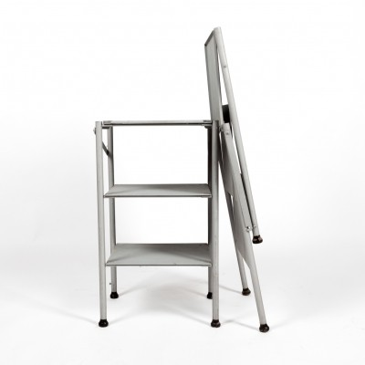 Embru folding tables in lacquered steel & black lacquered wood legs