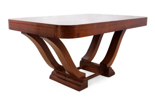 French Art Deco Dining Table in Rosewood