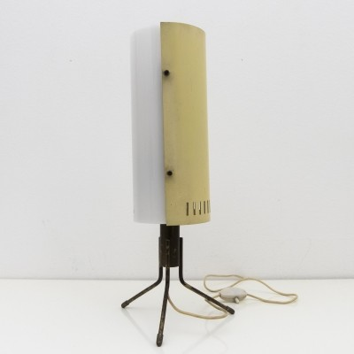 Stilnovo labeled table lamp in brass, metal & perspex, 1956