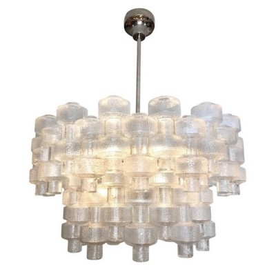 Carl Fagerlund for Orrefors Crystal 'Festival' Chandelier