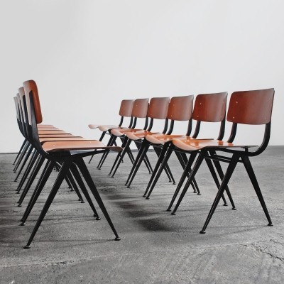 Set of 12 vintage dinner chairs, 1960s