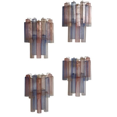 Four Aureliano Toso Murano Glass Wall Lights