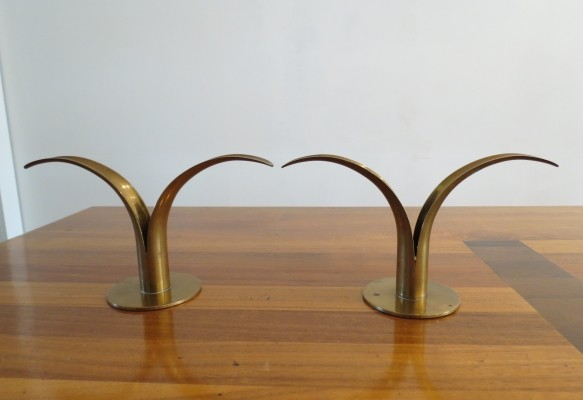 Pair of Lilly candleholders by Ivar Alenius Bjork, 1960s